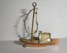 Antique  14k Gold Chinese boat pendant
