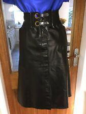 Vintage Soft Real Leather Mistress Secretary Flared Skirt Size 12,14 Waist 32ins