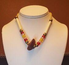 Beaded - Catlinite Pendant Necklace - Native American - Lakota - Sioux