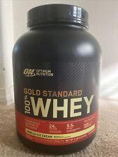 New Optimum Nutrition Gold Standard 100% Whey Protein 5lb Vanilla Ice Cream
