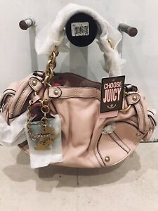 Juicy Couture Light Pink Leather Hobo Satchel Handbag w/Gold Tone Hardware! NWT