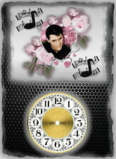 Elvis Presley Wall Clock  It would make a great  Gift