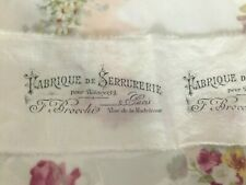 Vintage French Stamped Fabric Trim ~ Junk Journals Slow Stitching Mixed Media