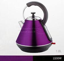 1.8l litri Bollitore Elettrico Cordless Veloce Bollire Brocca Filtro Lavabile 2200w Viola