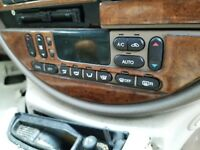 1999 2000 2001 2002 JAGUAR S-TYPE  A/C HEATER SWITCH WOODGRAIN TRIM