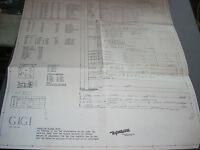 Gottlieb GIGI Schematic Original Game #202 1963 VG Complete