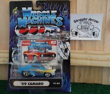 Muscle Machines 1969 Chevy Camaro Blue 1:64 Scale Diecast Model Car 69 01-85
