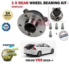 FOR VOLVO V60 ESTATE 2010-->NEW 1 X REAR WHEEL BEARING KIT + BOLTS SET COMPLETE