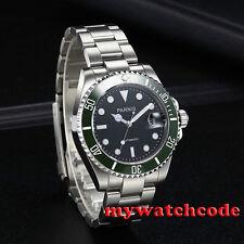40mm Parnis black dial MIYOTA automatic mens watch Sapphire glass Ceramic bezel