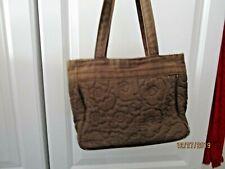 Thirty One Demi Purse Brown Floral Quilt Handbag