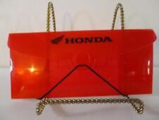 Honda Red Plastic document holder hold vintage bike titles receipts Wing logo