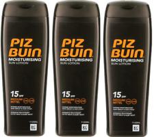 3X PIZ BUIN Moisturising Sun Lotion SPF 15