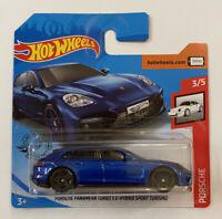 2020 Hotwheels Porsche Panamera S E-Hybrid Sport Turismo Blue Mint! MOC!