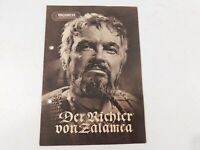 Progress Filmillustrierte E. German Movie Program 1956 Der Richter Van Zalamea