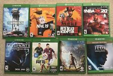 Lot 8 XBOX ONE Games - Read Dead, Star Wars, NBA2K, Assassins Creed, NHL, FIFA