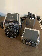 Zenza Bronica S2 6x6 Film Camera. W/ 7.5cm F2.8 Nikkor p Lens. + Extras. READ