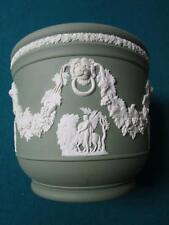 Antique English Wedgwood sage Green  Cache Pot/Jardiniere Lion Head