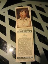 """WILLS'"""" CRICKETERS 2ND SERIES 1929 FULL VG SET [t]"""
