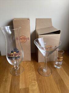 **** Hard Rock Cafe Glasses Sharm El Sheikh - Hurricane Shot & Martini ****
