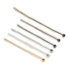 100 Pieza 6 Colores Ball Head Pins hallazgos accesorios de fabricación de joyería 20-50 mm