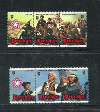 PENRHYN 79-80, 1976 AMERICAN BICENTENNIAL, STRIPS OF 3, MNH (ID7262)