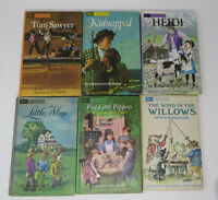 Companion Library Classics Vintage Lot 6 Tom Sawyer Little Men Kidnapped Heidi