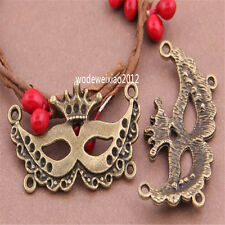 6pc Antique Bronze Bead Charms mask Pendant Accessories wholesale PL473