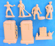 1950s MARX HAPPI-TIME SERVICE STATION CENTER PLAY SET FIGURES & ACCESSORIES