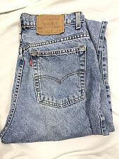 Vintage LEVIS 521 High Waist Tapered Fit Light Wash Mom Jeans size 12 1980s USA