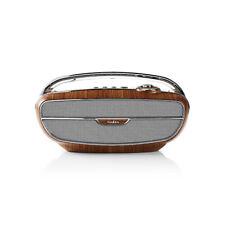 ENCEINTE PORTABLE BLUETOOTH RADIO DESIGN RETRO FM CARTE SD/USB/AUX MARRON ARGENT