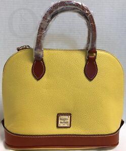 NWT~Dooney & Bourke*Lemon Yellow *Zip Zip Satchel*Shoulder Bag Cross Body