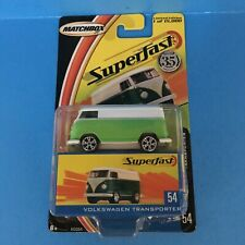 Matchbox Superfast Volkswagen Transporter Bus - Green/White 1 of 15000