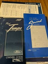 New Listing1988 Ford Tempo Owners Manual