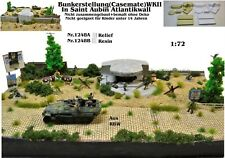 Nr.1248A Bunker Stellung(Casemate)WKII in Saint Aubin Atlantikwall 1:72  Diorama