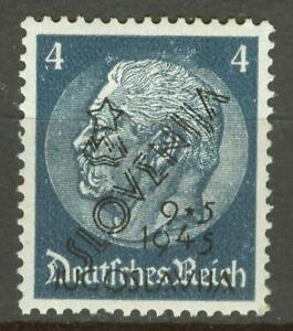YUGOSLAVIA 1945 SLOVENIA NON ISSUED stamp - HINDENBURG MI. Ma1 MNH signed twice