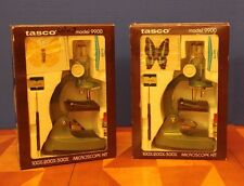2X Vintage Tasco Microscope Kits Zoom Model 9900 Very Rare *