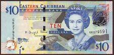 East Caribbean States  10 Dollars  ND (2015)    Gem UNC