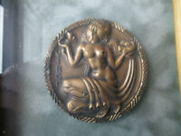 "Virgo Medallic Art Co Bronze Medallion 2-3/4"" Rare 160-55E"