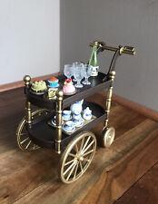 Ooak Barbie 1:6 Scale Furniture Tea Cart Wine Food Tea Set Accessories Diorama