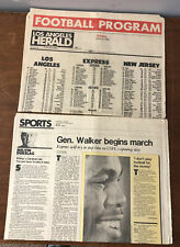 "1983 USFL Newspaper Lot ""USFL Opening Day Herschel Walker, Jim Belushi Death"