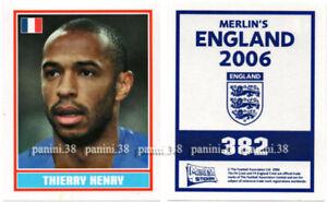 "RARE !! Sticker THIERRY HENRY ""ENGLAND 2006"" Panini"