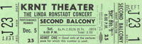 LINDA RONSTADT 1970 SILK PURSE TOUR UNUSED KRNT CONCERT TICKET / NM 2 MINT No. 4