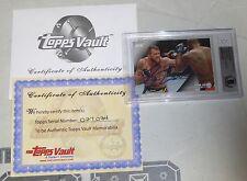 Ryan Bader Signed UFC 2015 Topps Vault Knockout Blank Back 1/1 Card BAS COA Auto