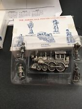 Americana Pewter Collection Number 25 Locomotive Plus Figures In Box