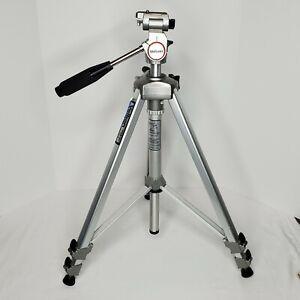Vintage Velbon VGB-3C Camera Tripod Aluminum Telescoping Adjustable