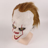 Men Halloween Party Cosplay Scary Mask Costume Stephen King's IT Clown Pennywise