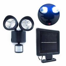 22 LED Dual Solar Powered Garage Adjustable Motion Sensor Security Flood Light