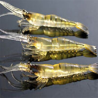 Lot 3 Pcs Minnow Shrimp Baits Tackle Fishing Lures Crankbaits Hooks Bait Tackle