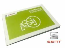 BRAND NEW GENUINE SEAT CAR MAINTENANCE PROGRAMME SERVICE BOOK 5F0012720SE