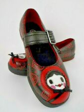 TUK  Black Mary Jane Red Heart Pattern Zombie Baby Bonnet/Little Red Riding Hood